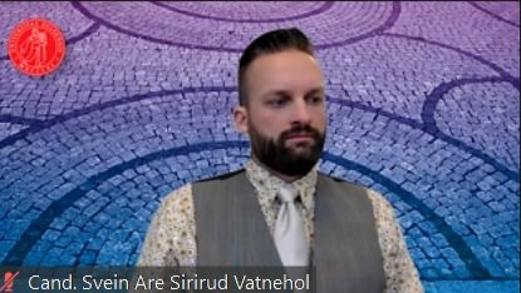 Foto fra disputas presentasjonen: Svein Are Sirirud Vatnehol