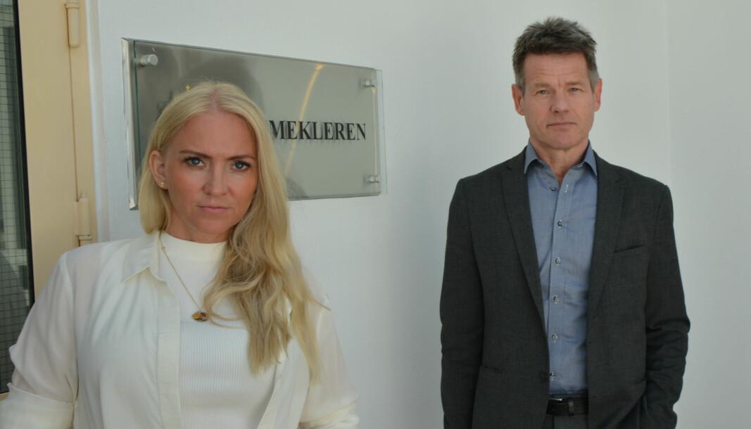 Forhandlingsleder i Unio Spekter, Lill Sverresdatter Larsen og forbundsleder i Norsk Radiografforbund, Bent Ronny Mikalsen.