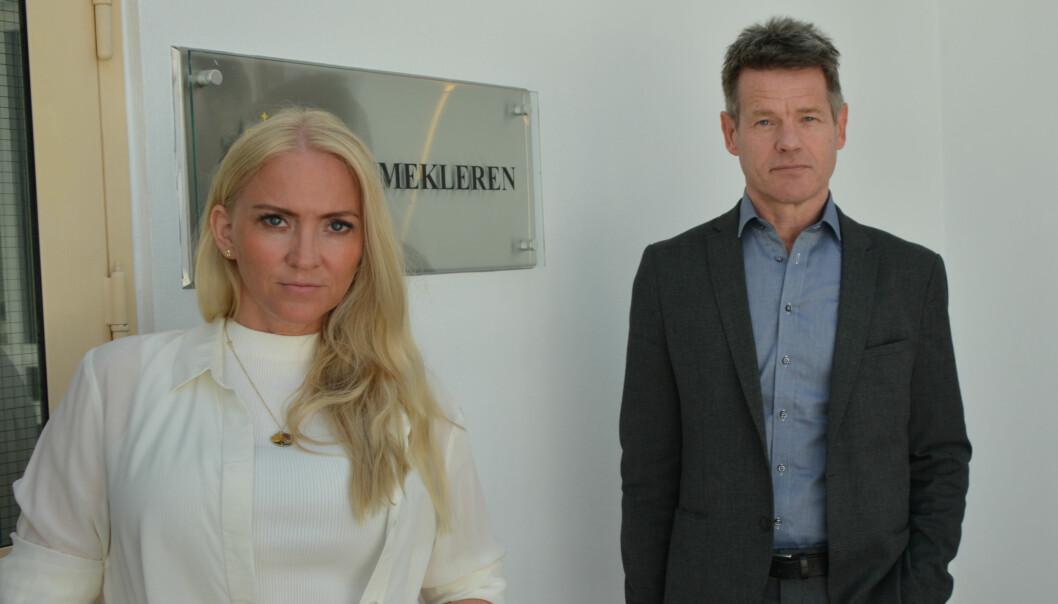 Leder i Norsk Sykepleierforbund Lill Sverresdatter Larsen og Leder i Norsk Radiografforbund, Bent Ronny Mikalsen.